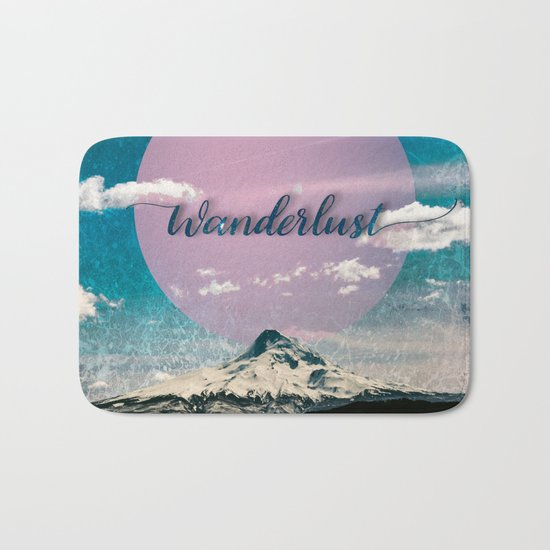 Wanderlust Mountain - Exploregon Bath Mat