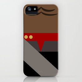 Worf - Minimalist Star Trek DS9 Deep Space Nine - Lieutenant Commander - startrek - Trektangles iPhone Case