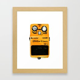 Guitar Distortion Pedal Acrylics On Paper (White Edit) Framed Art Print