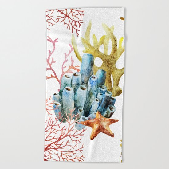 Sea Life Pattern 11 Beach Towel