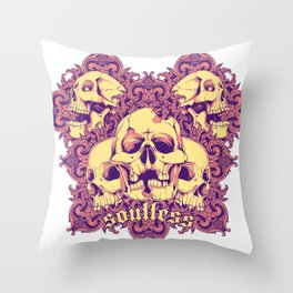 Soulless skulls Throw Pillow