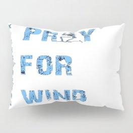 Kiteboarding Humor Kneeling Skeleton Praying For Wind Pillow Sham