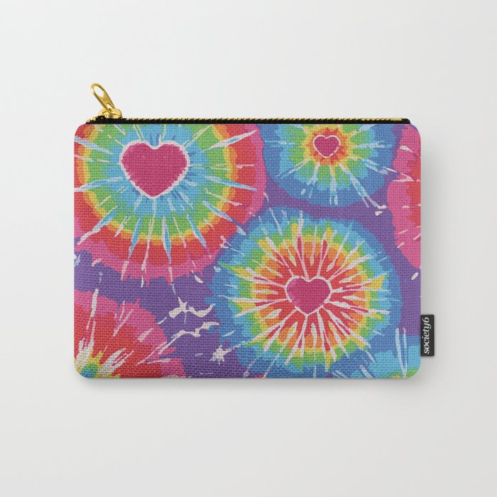 Love Tye Dye Carry-All Pouch
