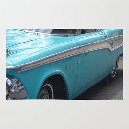Blue Vintage car Rug