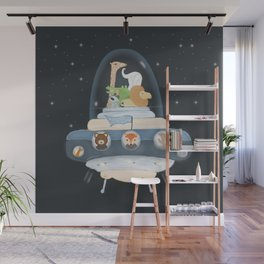 lets all go to space Wall Mural