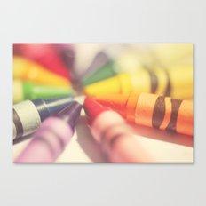 Crayon Love: Color Explosion Canvas Print