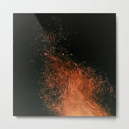 Night Sky Embers Metal Print