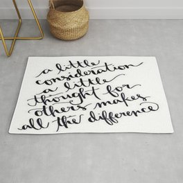 A Little Thought Makes All The Difference Rug