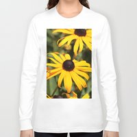 dentist Long Sleeve T-shirts featuring Happy Flowers by IowaShots