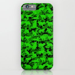 Bright Neon Green Catmouflage iPhone Case