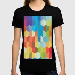 Rainbow Geodes Pattern T-shirt
