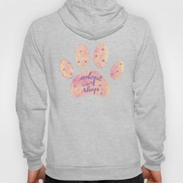 Adopt don't shop galaxy paw - pastel pink and ultraviolet Hoody