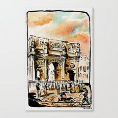 Arco di Contantino Canvas Print