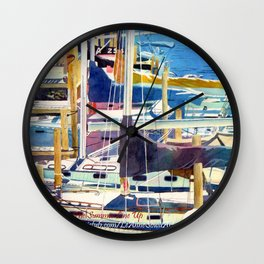 The Summer Line Up Wall Clock