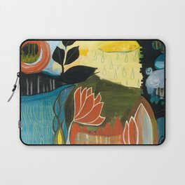"""""""Dream of Rain"""" original painting by Alison Moncrieff Laptop Sleeve"""