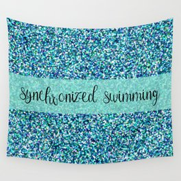 Glitter Synchronized Swimming Wall Tapestry