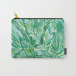 FUNKY JUNGLE Green Palm Pattern Carry-All Pouch
