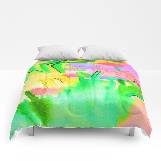 Flowers Sparkle  Comforters