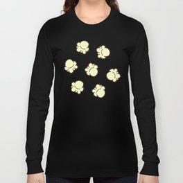 Popcorn Pattern Long Sleeve T-shirt