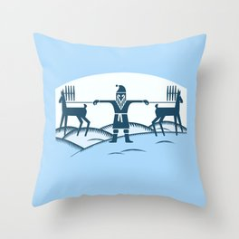 Fuss before Christmas. Throw Pillow
