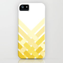 Yellow Ombre Stripes iPhone Case