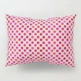 Magenta Watercolour Dot Pillow Sham