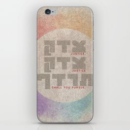 Justice Shall You Pursue - Hebrew Bible Quote iPhone Skin
