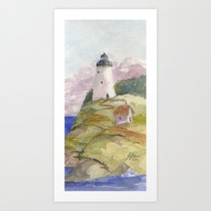 Peaceful Lighthouse II Art Print