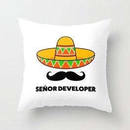 Senior Developer Throw Pillow