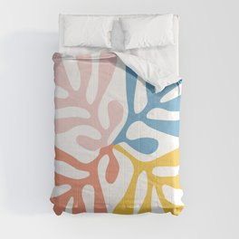 Matisse cutout -Abstract Modern Print, Comforters