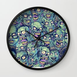Zombie Repeatable Pattern Wall Clock