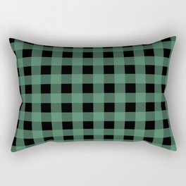Green Flannel Rectangular Pillow