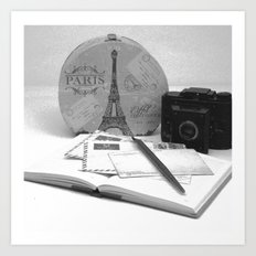 Love Letters From Paris Art Print