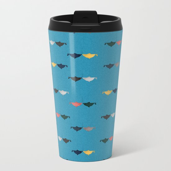 Hooked on you pattern Metal Travel Mug