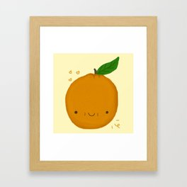 Kawaii Orange Framed Art Print
