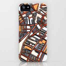Abstract Map - Porter Square Somerville iPhone Case