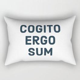 COGITO ERGO SUM René Descartes Rectangular Pillow