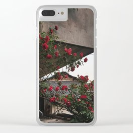 PHOTOGRAPHY - Corner roses Clear iPhone Case