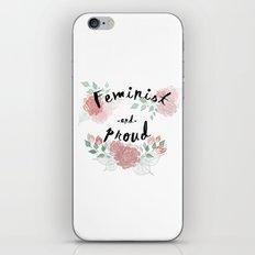Feminist & Proud iPhone & iPod Skin