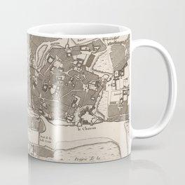 Vintage Map of Nantes France (1764) Coffee Mug