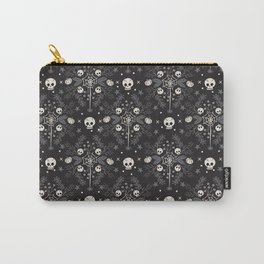 Halloween Damask Floral Carry-All Pouch