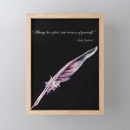 Judy Garland Quote Framed Mini Art Print