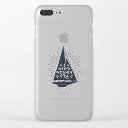 I Need Vitamin Sea Clear iPhone Case