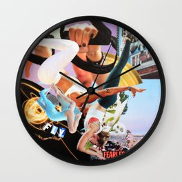 Fly Fearless Wall Clock