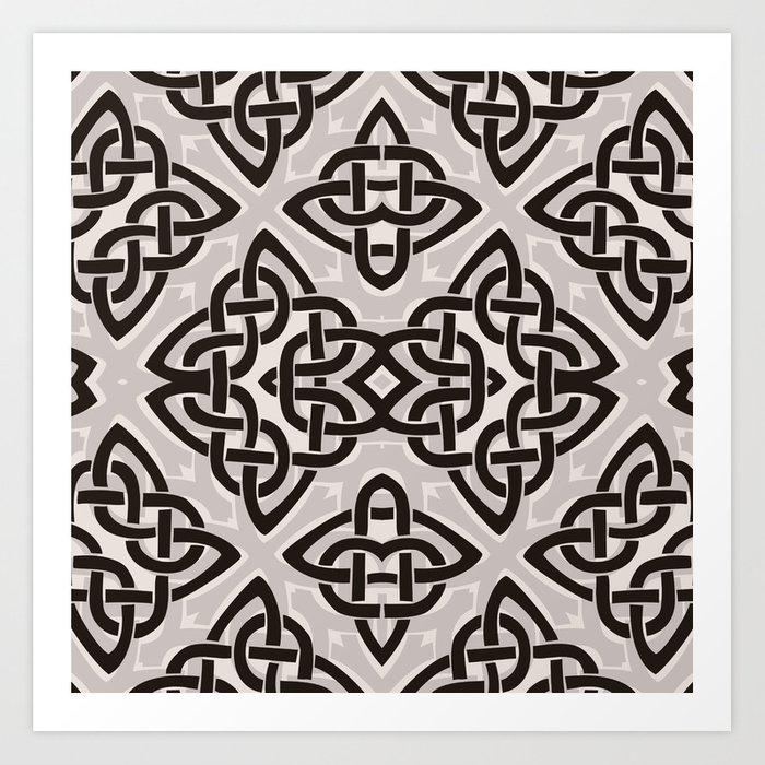 Kaleidoscope Celtic Knot Pattern Print Art Print By Beescustomtees Society6