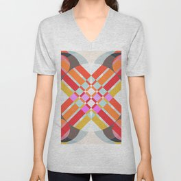 Gereint - Colorful Abstract Art Unisex V-Neck