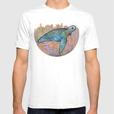 turtle White SMALL Mens Fitted Tee