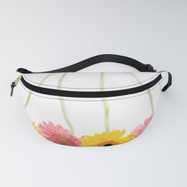 Colorful Pink and Yellow Gerbera Daisy Flowers Fine Art Photography Fanny Pack