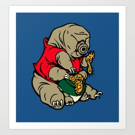 Water Pooh Bear (Tardigrade) Art Print