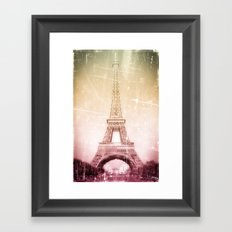 Eiffel Tower in Color Framed Art Print